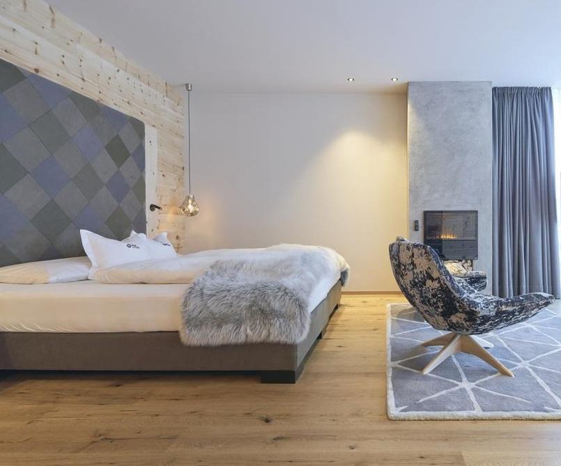 runner ecopelliccia lupo grigio per questo splendido letto di suite